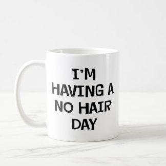 No estoy teniendo ningún pelo taza de café