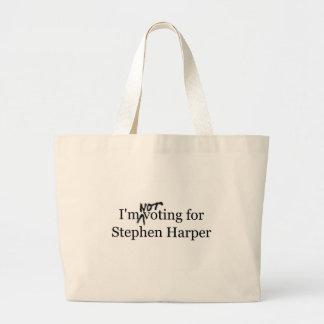 No estoy votando por Stephen Harper Bolsa Tela Grande
