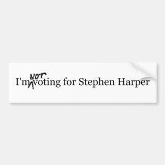 No estoy votando por Stephen Harper Pegatina De Parachoque