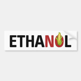 No Ethanol Bumper Sticker