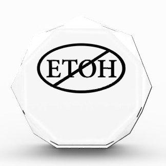 No ETOH Acrylic Award