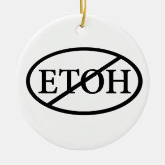 No ETOH Ceramic Ornament