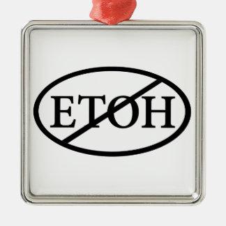 No ETOH Metal Ornament