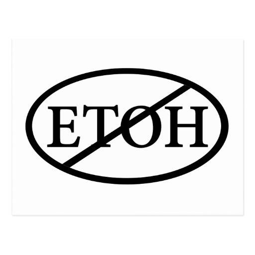 no ETOH Postcard