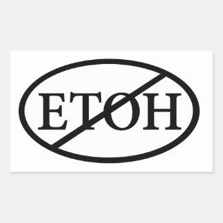 No ETOH Rectangular Sticker