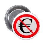 No Euro Pin Redondo De 2 Pulgadas