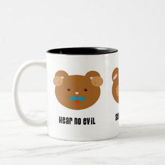No Evil 3 Bears Mug