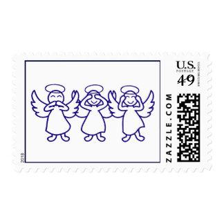 No Evil Angels - Drk Blue Stamps