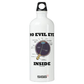 No Evil Eye Inside (Anatomical Eyeball Humor) Aluminum Water Bottle