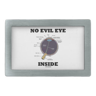 No Evil Eye Inside (Anatomical Eyeball Humor) Rectangular Belt Buckles