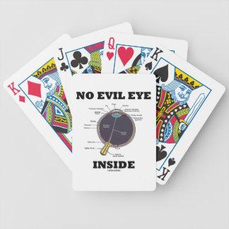 No Evil Eye Inside (Anatomical Eyeball Humor) Bicycle Playing Cards