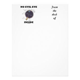 No Evil Eye Inside (Anatomical Eyeball Humor) Letterhead