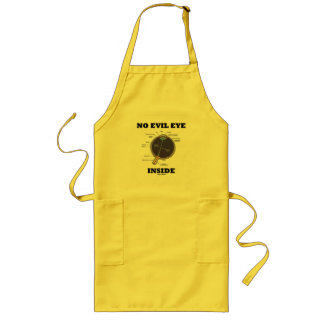 No Evil Eye Inside (Anatomical Eyeball Humor) Long Apron