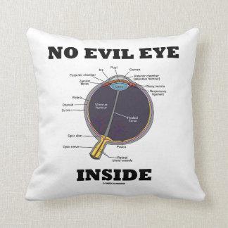 No Evil Eye Inside (Anatomical Eyeball Humor) Throw Pillow
