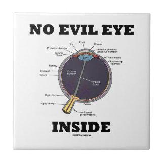 No Evil Eye Inside (Anatomical Eyeball Humor) Small Square Tile