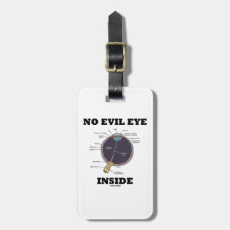 No Evil Eye Inside (Anatomical Eyeball Humor) Travel Bag Tags