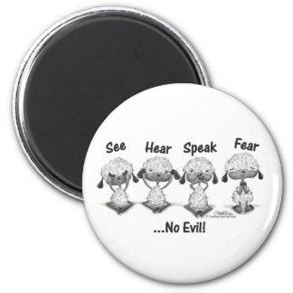 No Evil Lambs Magnet