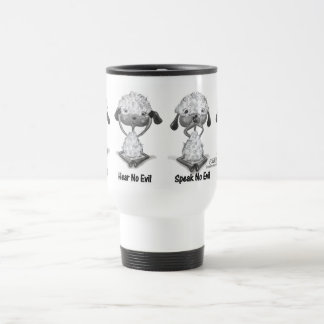 No Evil Lambs Travel Mug
