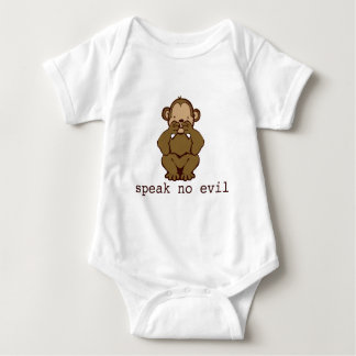 No Evil Monkeys Baby Bodysuit