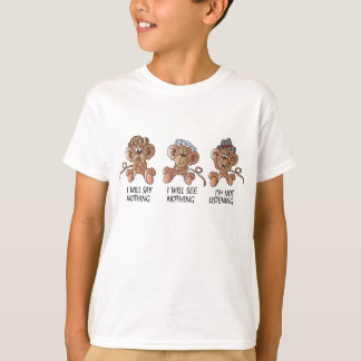 No Evil Monkeys | Cartoon T-Shirt