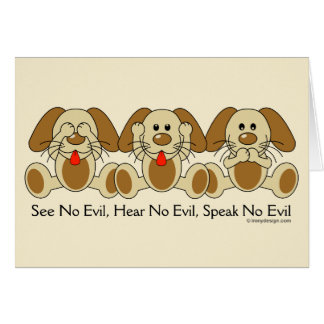 No Evil Puppies Card