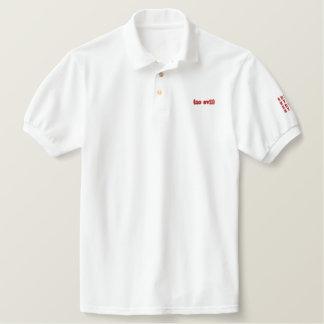 no evil sdddc htltb embroidered polo shirt