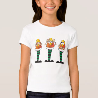 No Evil Silly Candy Corn Guys T-Shirt