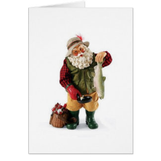 NO EXAGGERATING FISHERMAN SANT - MERRY CATCH CARD
