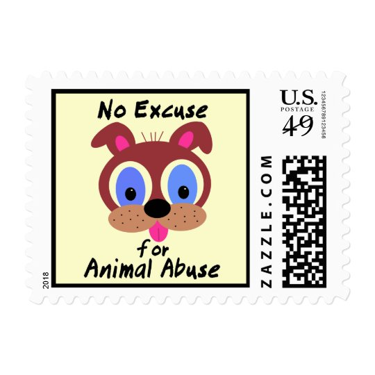No Excuse for Animal Abuse Stamps