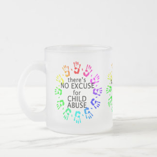 No Excuse for Child Abuse Frosted Glass Coffee Mug