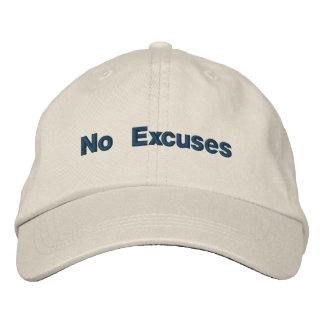 No Excuses Adjustable Baseball Cap