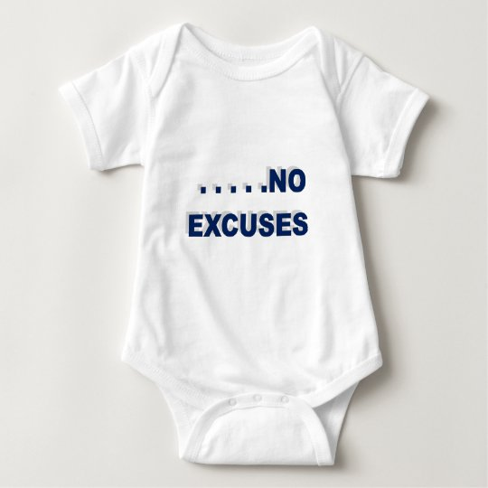 no excuses baby bodysuit