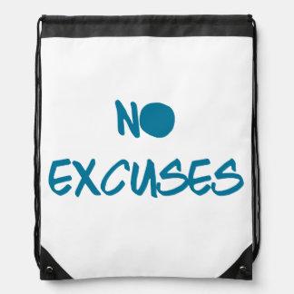 No Excuses Drawstring Backpack