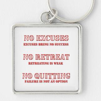 No Excuses. Keychain