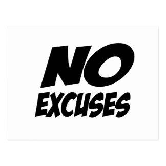 No Excuses! Postcards