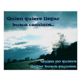 No Excuses Poster - Spanish!