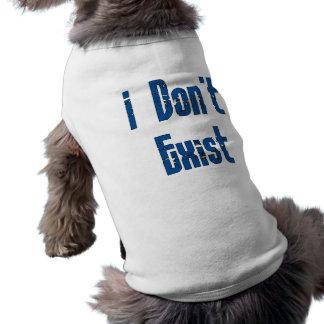 No existo playera sin mangas para perro