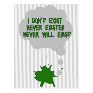 No existo tampoco tarjetas postales