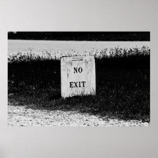 No Exit - spooky poster