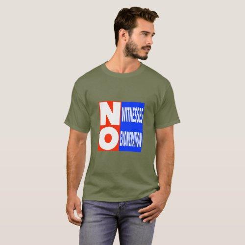 No Exoneration  Basic Dark T_Shirt