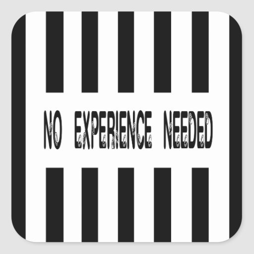 No Experience Needed Replacement Ref Sticker