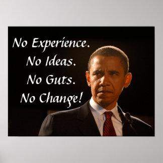 No Experience No Guts No Ideas No Change Poster