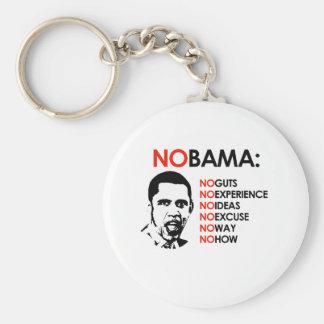 NO EXPERIENCE, NOBAMA BASIC ROUND BUTTON KEYCHAIN