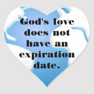 No Expiration Date Heart Sticker