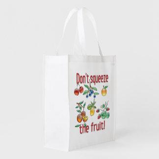 ¡No exprima la fruta! Bolsa De La Compra