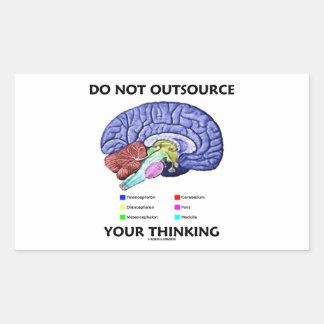 No externalice su pensamiento (la anatomía del pegatina rectangular