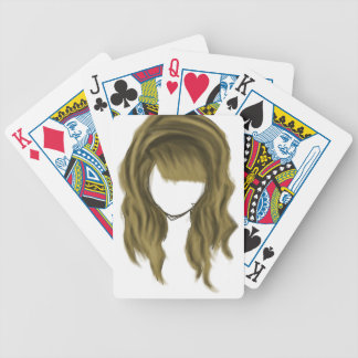 No Face Girl Bicycle Playing Cards