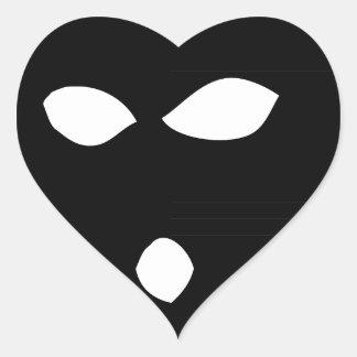 No Face No Case Heart Sticker