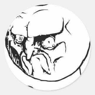 NO! face Classic Round Sticker