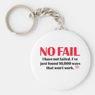 No Fail Basic Round Button Keychain